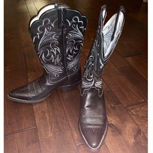 1fa5f83d6d5 Women Black Square Toe Cowboy Boots on Poshmark
